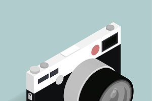Vector of retro camera icon