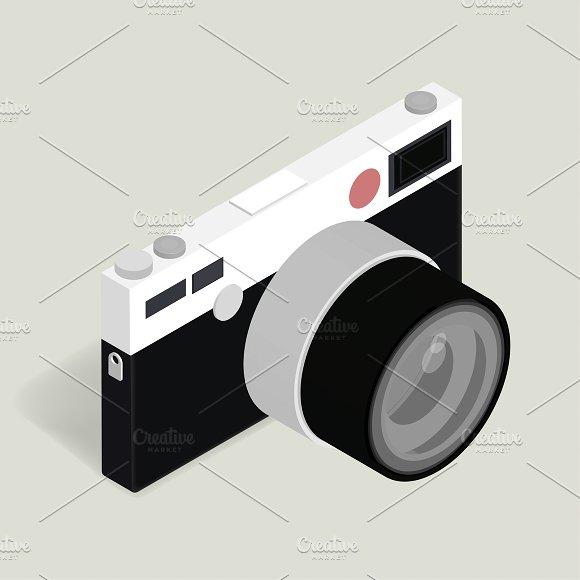Vector Of Retro Camera Icon