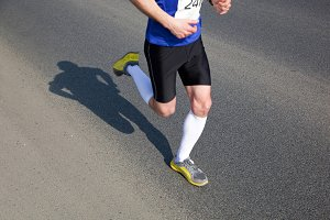 Marathon runner on the way