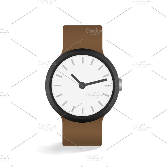 Vector Of Leather Watch Icon