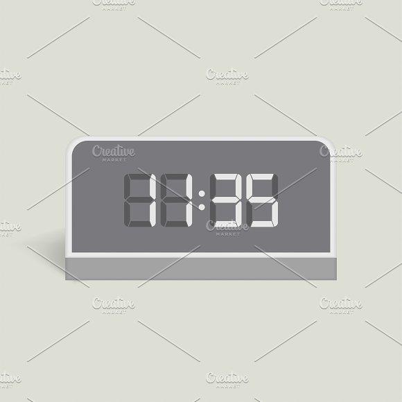 Vector Image Of Digital Alarm Clock
