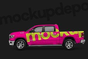 Dodge RAM Pickup Truck Mockup