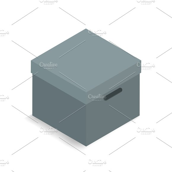 Vector Of 3D Container Box Icon