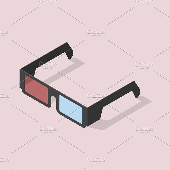 Vector Of 3D Glasses Icon