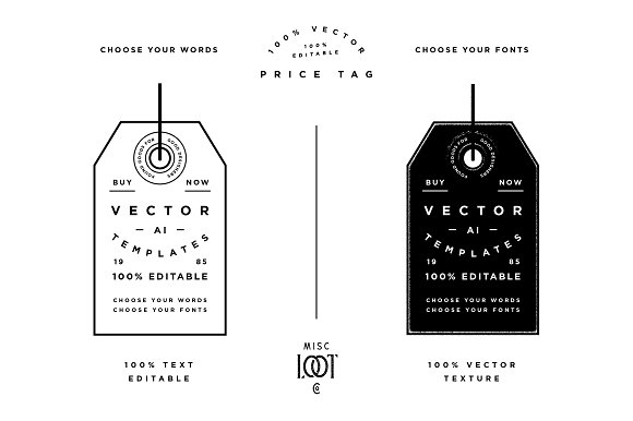 price tag template graphic objects creative market