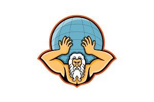 Atlas Holding Up World Mascot
