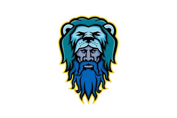 Hercules Wearing Lion Skin Mascot