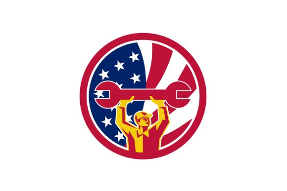 American Mechanic USA Jack Flag Icon