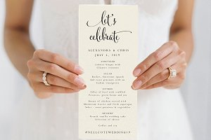 Wedding Menu - Editable PDF
