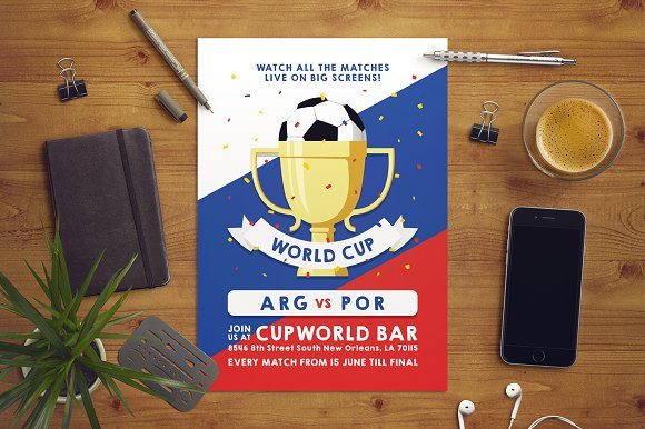 Russia World Cup Flyer