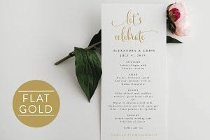 Wedding Menu - Editable pPDF
