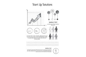 Startup Solutions Poster Vector Illustration