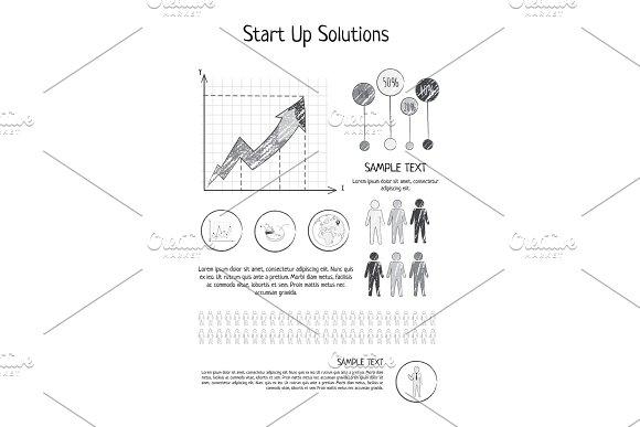 Startup Solutions Poster Vector Illustration