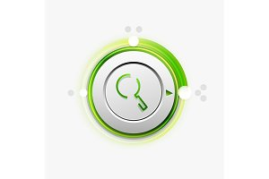 Search magnifyier web button, magnify icon. Modern magnifying glass sign, web site design or mobile app