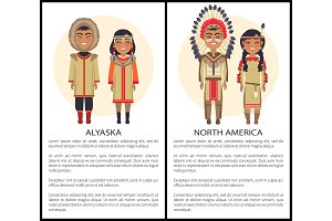 Alaska and North America People Wearing Cothes