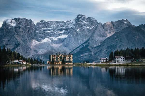 Misurina lake in Dolomites, Italy