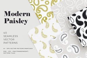 Modern Paisley Seamless Patterns