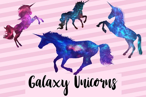 Galaxy Unicorn Graphics