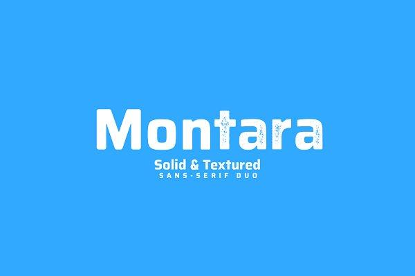 Sans Serif Fonts: Navi Singh - Montara - Textured+Clean sans duo