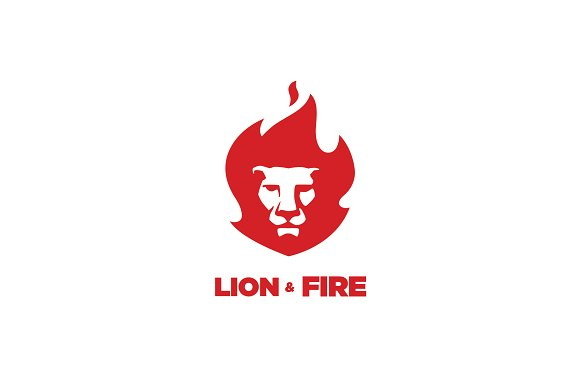 Lion And Fire