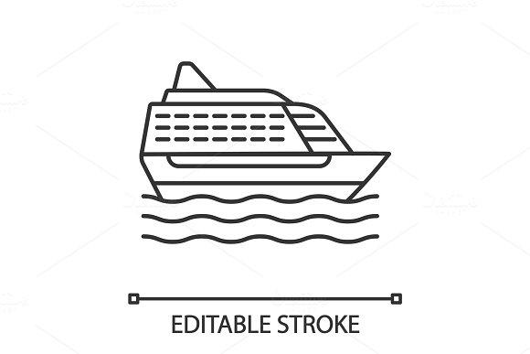 Cruise Ship Linear Icon