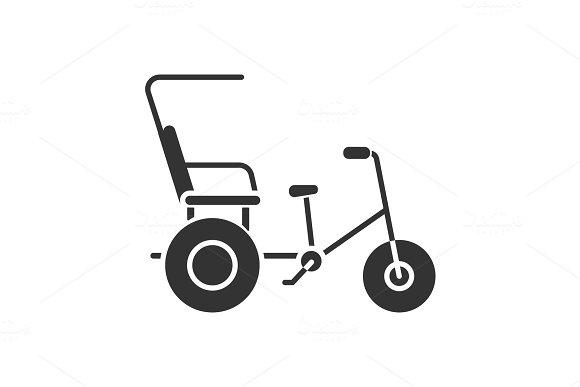Cycle Rickshaw Glyph Icon