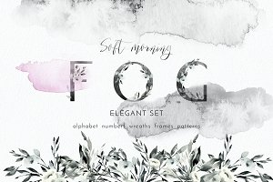 Soft morning fog - graphic set