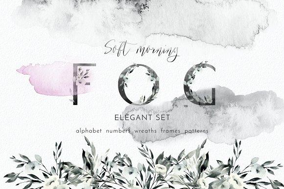 Soft Morning Fog Graphic Set