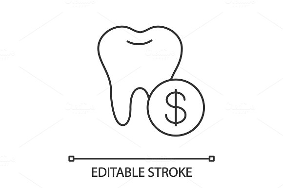 Dental Services Price Linear Icon