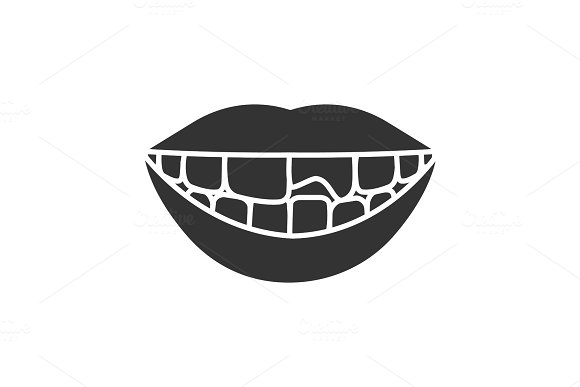 Broken Tooth Glyph Icon