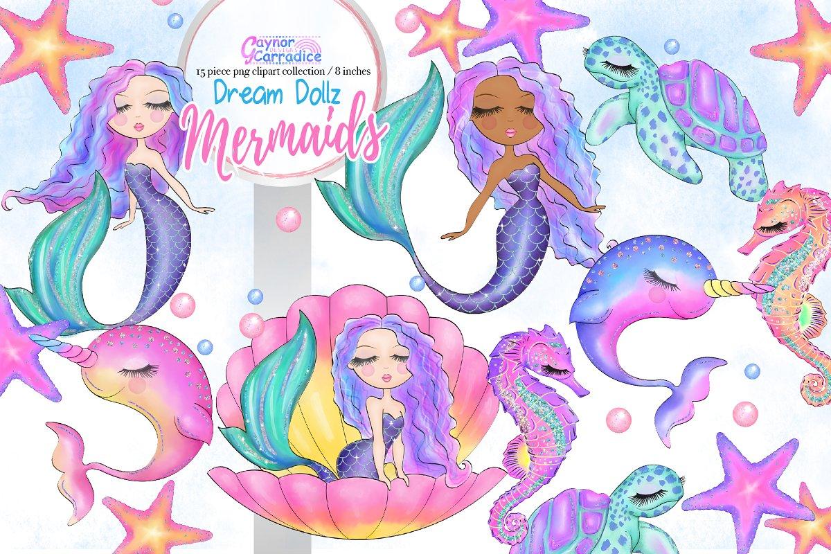 Mermaid purple. Dream dollz mermaids clipart