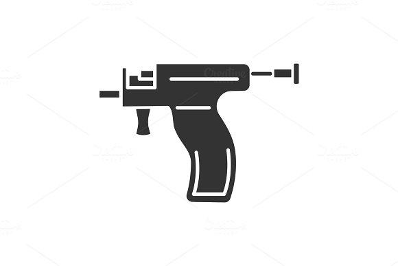 Piercing Gun Glyph Icon