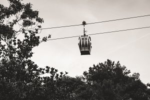 New Barcelona cable car in Montjuic