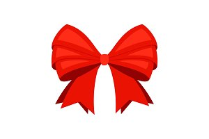 Red ribbon bowknot