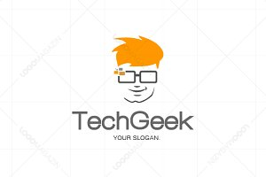 Tech Geek Logo