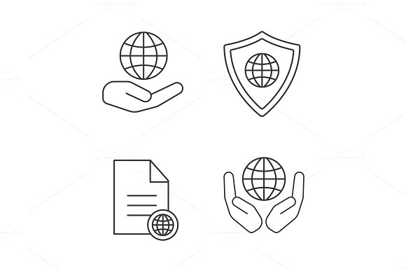 Safe Internet Connection Icons Set