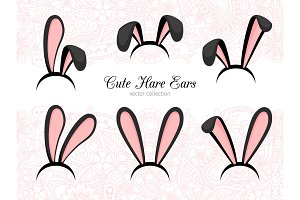 Hare ears costume part