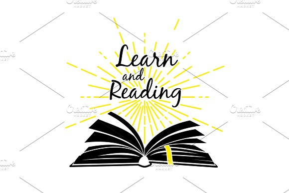 Open Book Learn And Read Poster