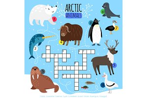Arctic animals crossword puzzle