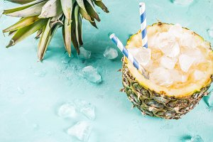 Iced pineapple cocktail
