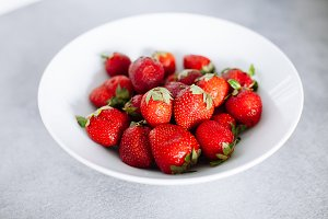 Top of view fresh strawberry