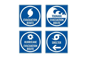 Evacuation route and shelter in case of tsunami or hurricane