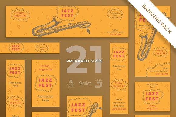Banners Pack Jazz Festival