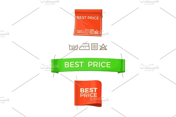 Best Price Promo Logos On Clothes Tags Set