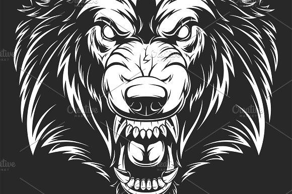 Head Of The Ferocious Wolf