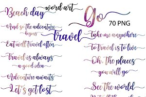 Travel Word Art Clipart