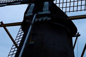 Windmill at dusk, Holland