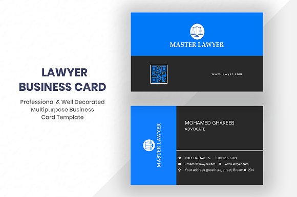 Lawyer business card business card templates creative market friedricerecipe Image collections