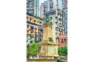 Statue of Vasco da Gama in Macau, China