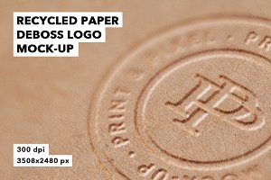 Recycled Paper Logo Mockup Badge